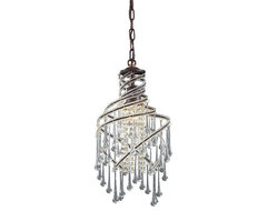 Elise Crystal Pendant transitional-pendant-lighting