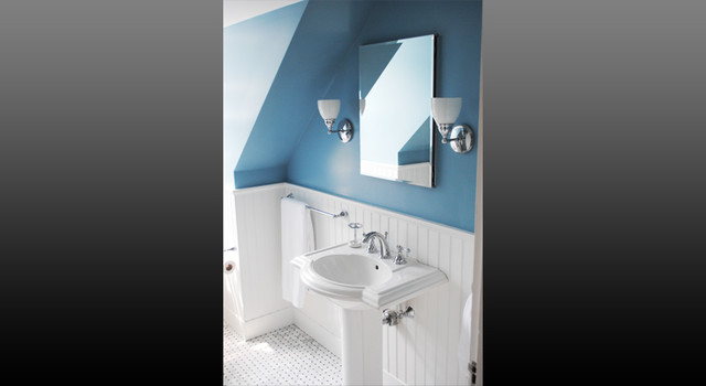Great places - small spaces traditional-bathroom