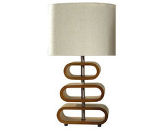 Stacked Geo Table Lamp modern table lamps