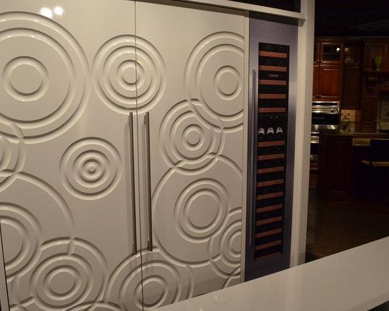 White Sub-Zero with Custom Panels -