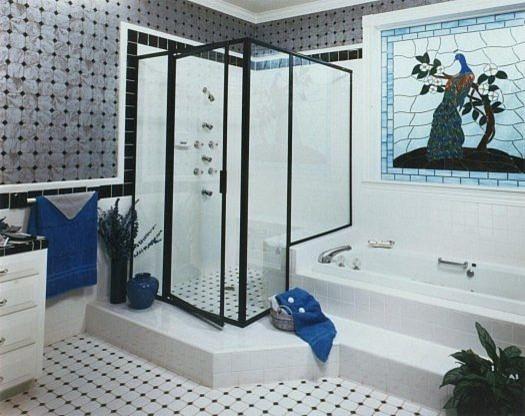 Bath enclosures eclectic-showers