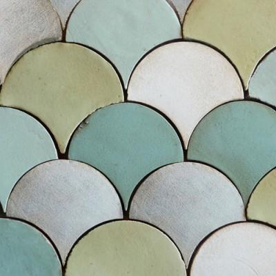 tabarka handmade terra cotta tile fan contemporary tile
