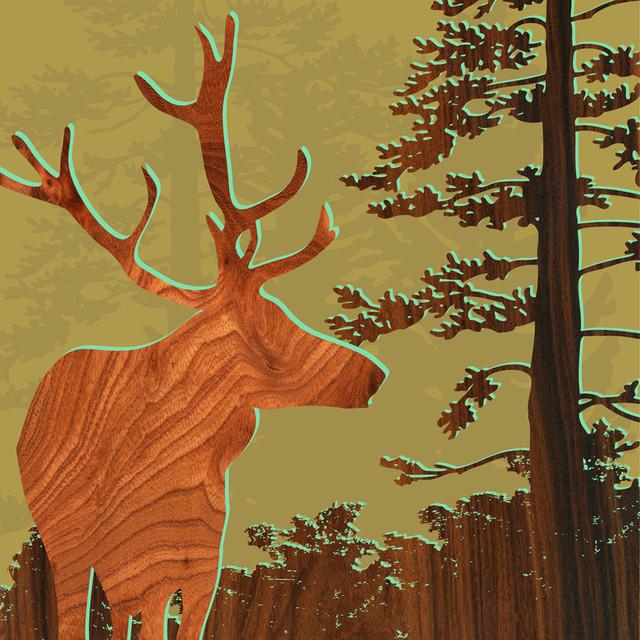Forest Critters Print - Deer 2 modern-artwork