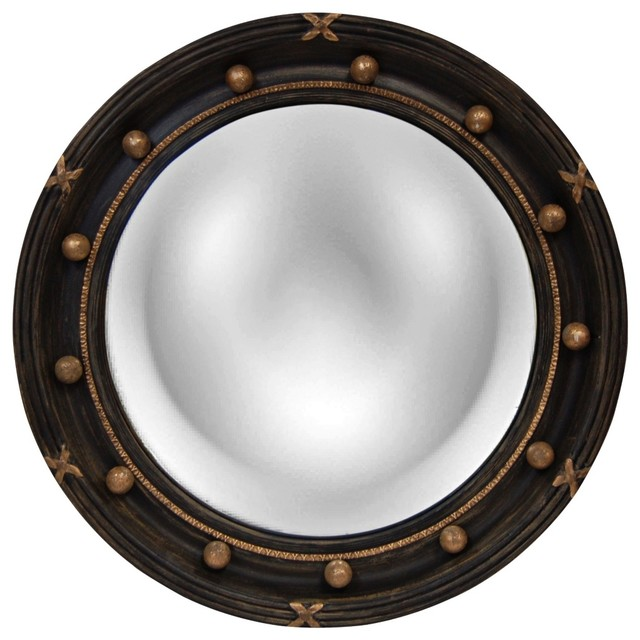 Decorative Wall Mirror Lamps Plus : Transitional regency quot high convex round wall mirror