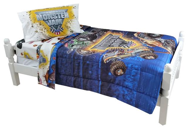 Monster Jam Twin Bedding Set Truck Destruction Bed