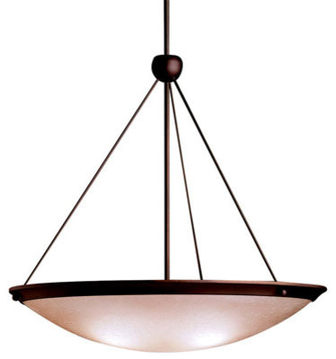 Olde Bronze Large Bowl Pendant contemporary-ceiling-lighting