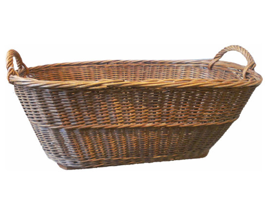 French Oval Basket - Vintage French Gathering Basket, great shape and size