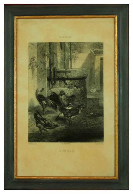 H. Hal Kramer Co. Poulet et Coq Lithograph contemporary-artwork