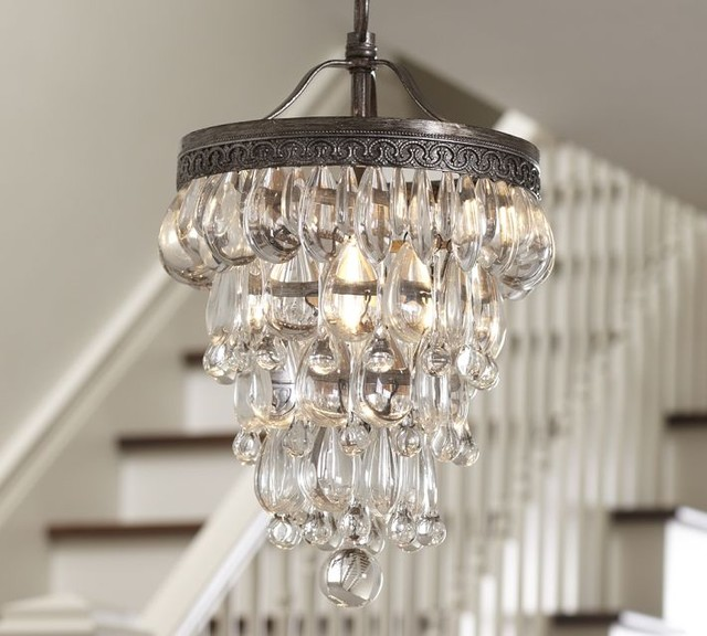 clarissa glass drop small chandelier pottery barn chandeliers
