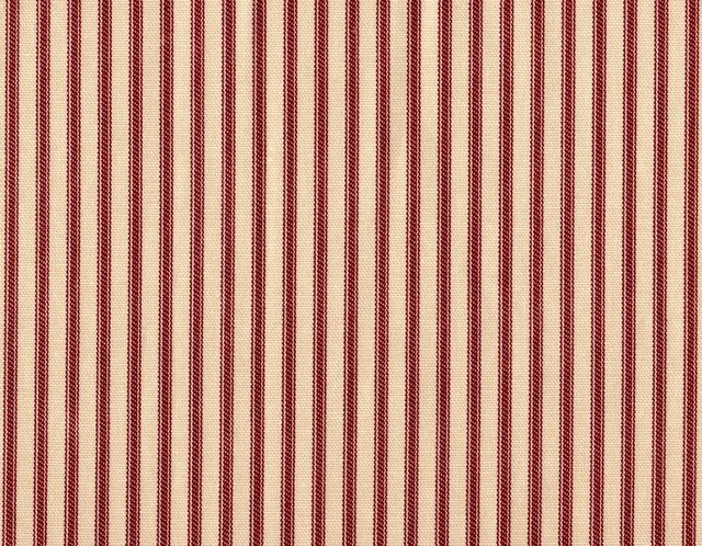 "Curtain Panels, Ticking Stripe Crimson, Crimson Red, 96"", Unlined traditional-curtains"