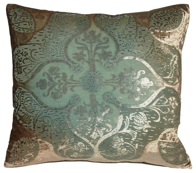 Eclectic Style Pillows : Persian Velvet Antique Pillow - 20