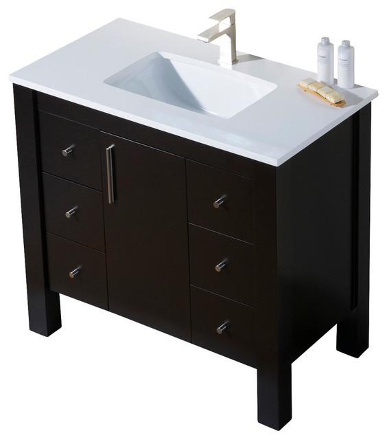 ... Sink, Beige Quartz Countertop - Modern - Bathroom Vanities And Sink