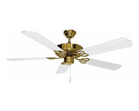 "Volume Lighting - Volume Lighting V5954 5 Blade 52"" Indoor Ceiling Fan with White Blades - 5 Blade 52"" Indoor Ceiling Fan with White BladesGive your home a new look with this fantastic 52"" blade indoor ceiling fan featuring flawless white blades.Features:"