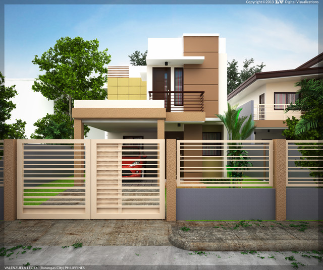 Two Storey Residential House With Attic: Two-Storey Residential Building