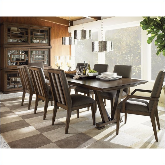 Lexington 11 South Pinnacle Dining Table in Chestnut Brown modern-dining-tables