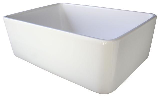 Farmhouse Sink Single Bowl : ... Fireclay Single Bowl Farmhouse Kitchen Sink traditional-kitchen-sinks