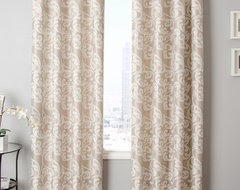 Blindsgalore Signature Drapery Panel: Kunas Patterned Jacquard transitional-curtains