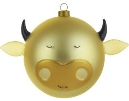"""Alessi """"Bue"""" Christmas Bauble contemporary-christmas-ornaments"""