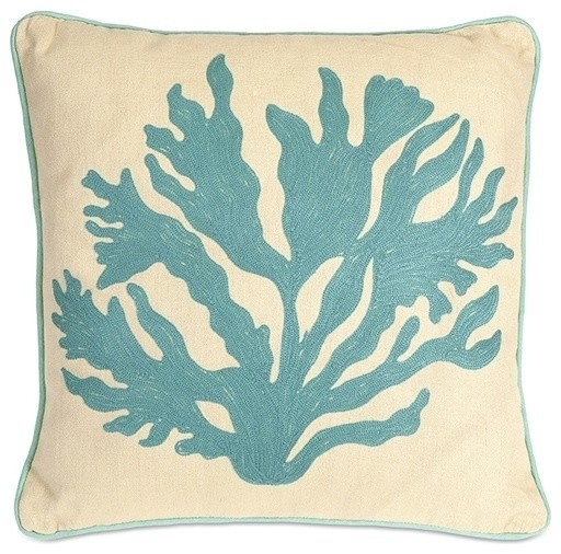 Gale Coral Pillow - Beach Style - Decorative Pillows - by Uber Bazaar