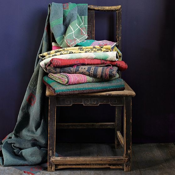 New Kantha Quilted Throw modern-quilts-and-quilt-sets