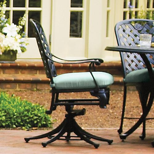 Provance Dining Swivel Rocker with Cushion Frontgate Patio Furniture Tra