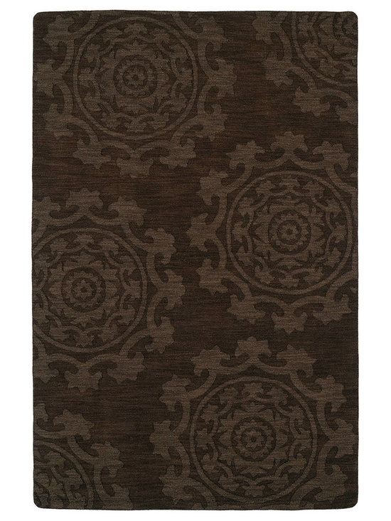 Kaleen - Imprints Classic Ipc01 Chocolate Rug - Imprints Classic, where textiles meet fashion. Modern textile designs and todays hottest colors combine to meet the new evolution of this beautiful collection. Straight off the runway and into your home each rug is handmade in India of 100% Virgin Wool.