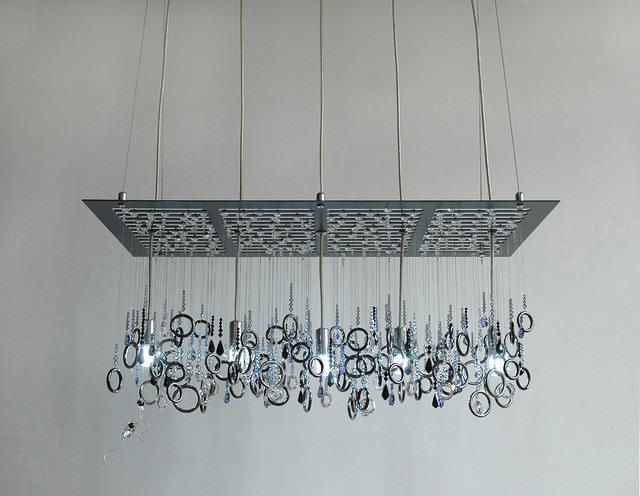 nyc sewer grate swarovski crystal chandelier by water pressure lighting contemporary-chandeliers