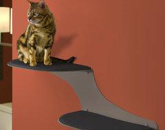 Refined Feline Cat Clouds Cat Shelf, Titanium contemporary-pet-care