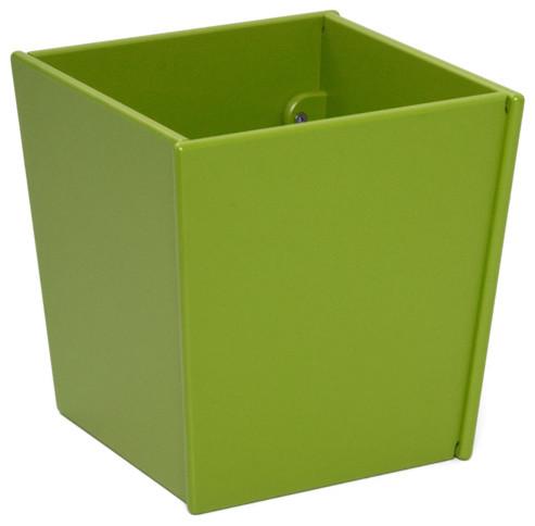 Loll Designs Leaf Green Taper Square Bin And Planter