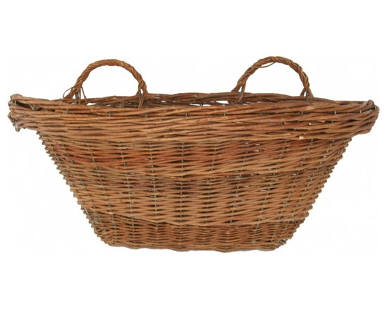 Wall Basket - Rustic and lovely vintage wall basket from the South of France. Looks pretty on a door or shelf or leaning on a table top, hung in the kitchen or bathroom ....
