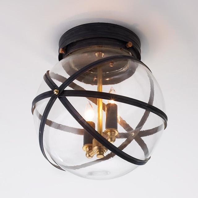 Steampunk Indoor Outdoor Ceiling Light BZ or Copper