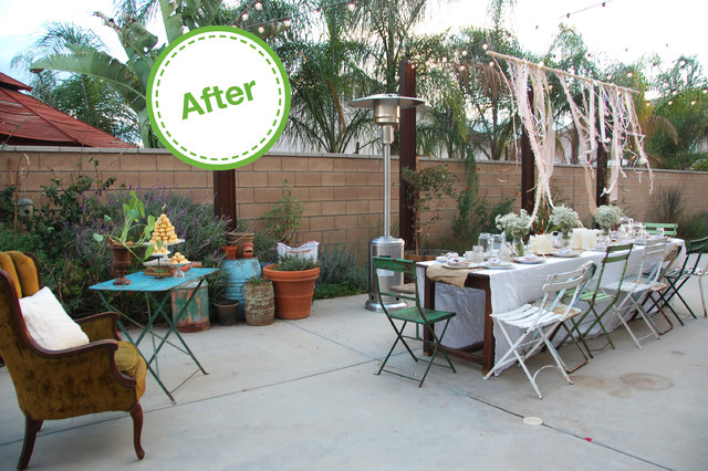 Houzz Holiday Contest A Pretty Backyard Dinner Party