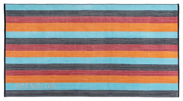 Kassatex Spiaggia Ombre Beach Towel, Orange contemporary-beach-towels