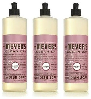 Mrs. Meyer's Liquid Dish Soap - Rosemary - Case Of 6 - 16 Oz contemporary-household-cleaning-products