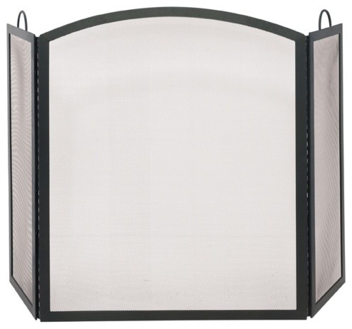 Tri fold large fireplace screen w arched midd contemporary fireplace screens by ivgstores - Houzz fireplace screens ...