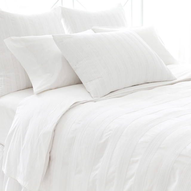 PCH Pintuck White Pillow Sham - Modern - Pillowcases And Shams - by Zinc Door