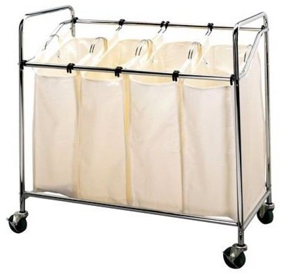 Laundry Sorter, Chrome contemporary-hampers