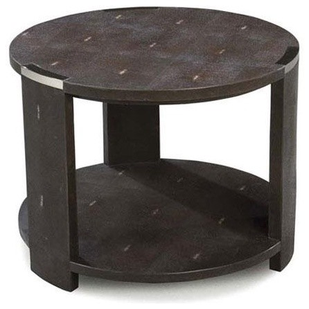 Julian Chichester Tribeca Two Tier Table in Chocolate Faux ...