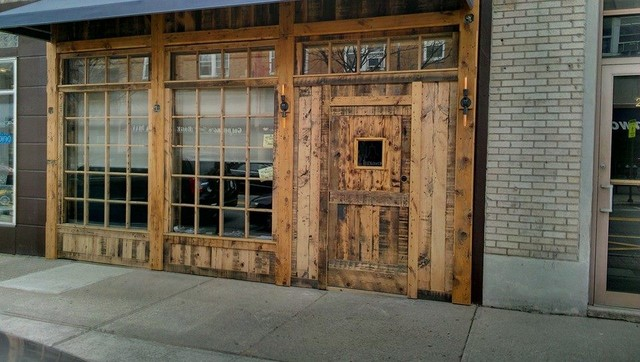 Reclaimed barn door design ideas from projects in nyc new for Barn style front door