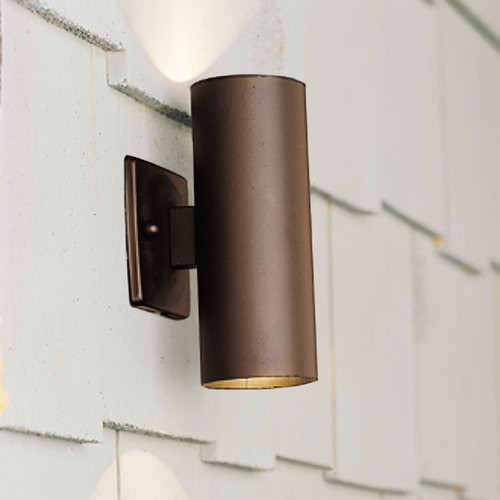 Wall Sconce With Down Light : Kichler Wall Wash 2 Light Up Down Sconce in Bronze 12V 15079AZT