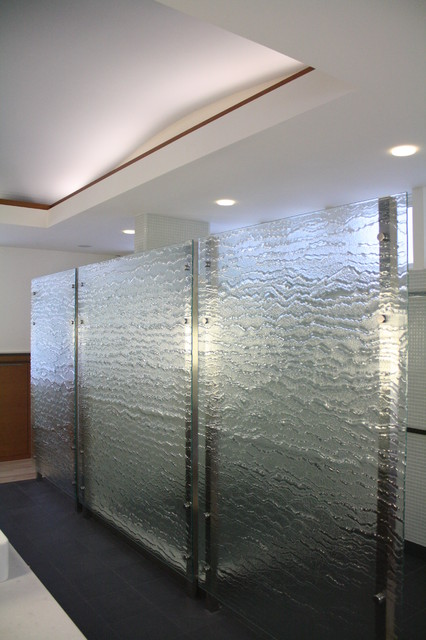 Cast Glass Bathroom Partition Contemporary Providence By Lucid Glass St