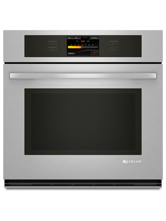 """Jenn-Air 30"""" Single Electric Wall Oven, Stainless/blk 