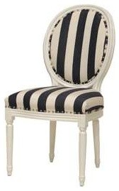 Lyon Ovan-Back Side Chair, Off-White Finish traditional-dining-chairs