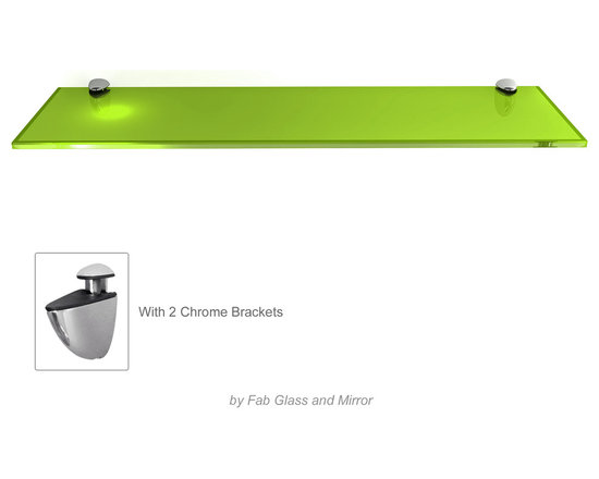 Floating Glass Shelf Kits clear Glass and Colored Glass By Fab Glass and Mirror -