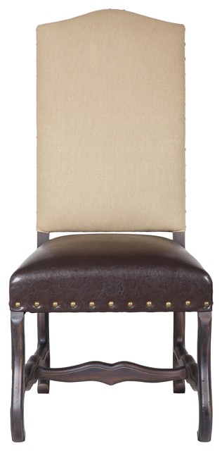 Louis chair in java colored recycled leather seat latte - Colored kitchen chairs ...