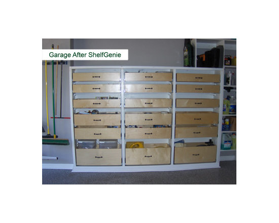ShelfGenie Glide-Out Shelves - Organize any room of your home, including your garage, with our custom pull out shelves.  Organization wherever you need it.