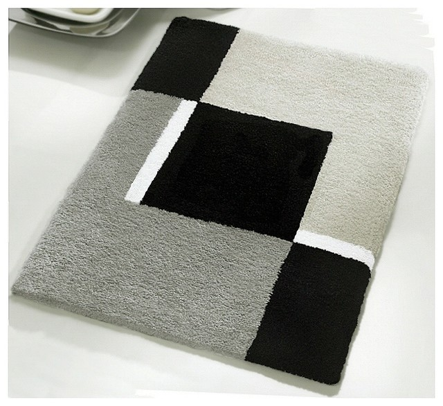 Small Bath Rug - Modern Anti Skid Bathroom Rug - Grey (21 ...