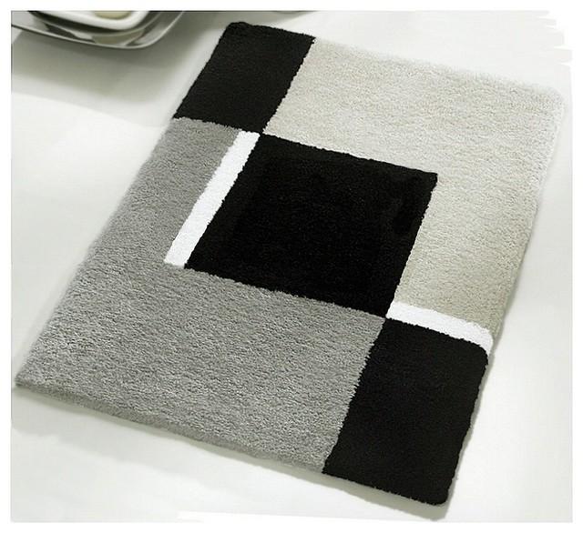 """Small Bath Rug - Modern Anti Skid Bathroom Rug - Grey (21.7"""" x 25.6"""") modern-bath-mats"""