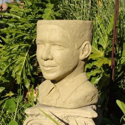 Designer Stone Obama Head Planter Multicolor - 2066 - Contemporary - Outdoor Pots And Planters ...