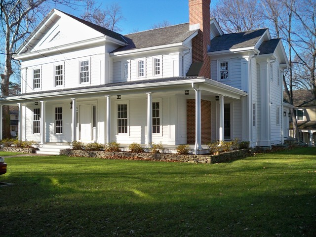 New 1850 39 S Greek Revival Farm House Traditional